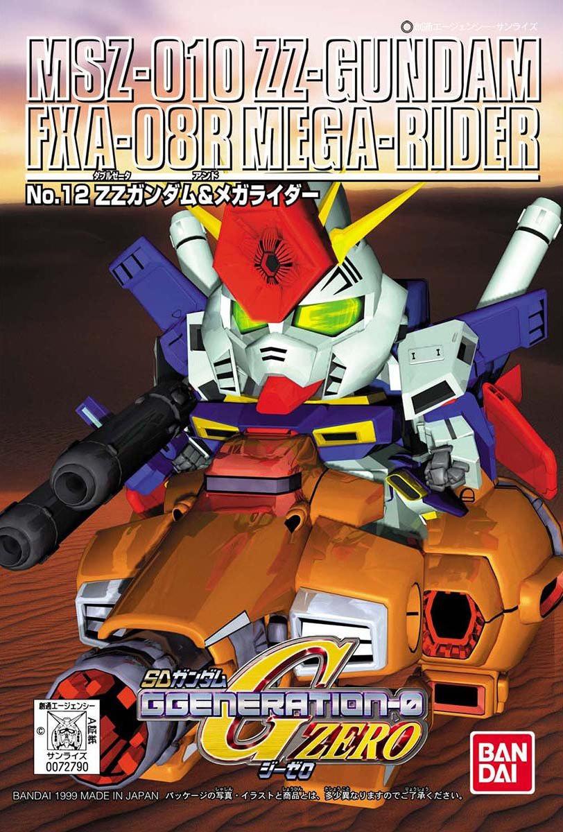 SDガンダム GジェネレーションZERO(GGENERATION-0) 012 MSZ-010 ZZガンダム & FXA-08R メガライダー [MSZ-010 ZZ Gundam & FXA-08R Mega Rider] 5056954
