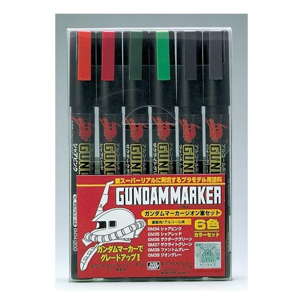 GSIクレオス ガンダムマーカー GMS108 ガンダムマーカー ジオン軍6色セット 4973028518160 4973028505634