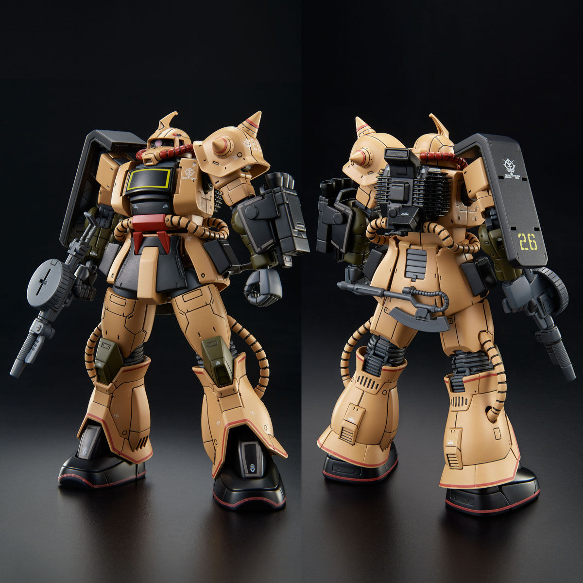 HG 1/144 ザク・デザートタイプ