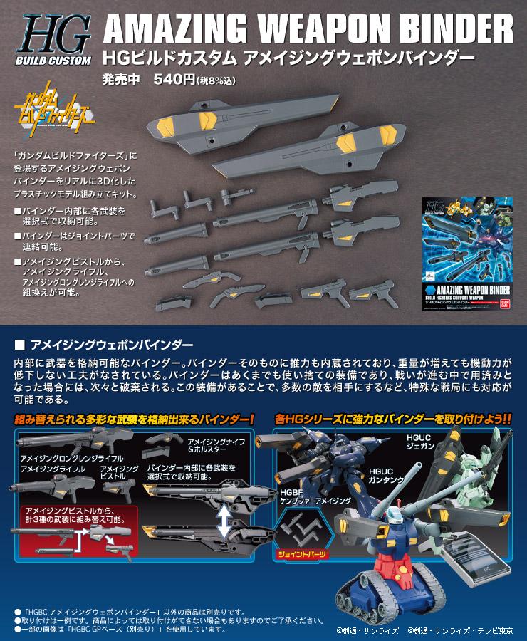 HGBC 1/144 アメイジングウェポンバインダー [Amazing Weapon Binder] 公式商品説明(画像)