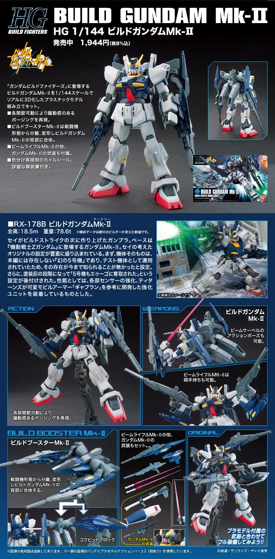 HGBF 1/144 RX-178B ビルドガンダムMk-II [Build Gundam Mk-II] 公式商品説明(画像)