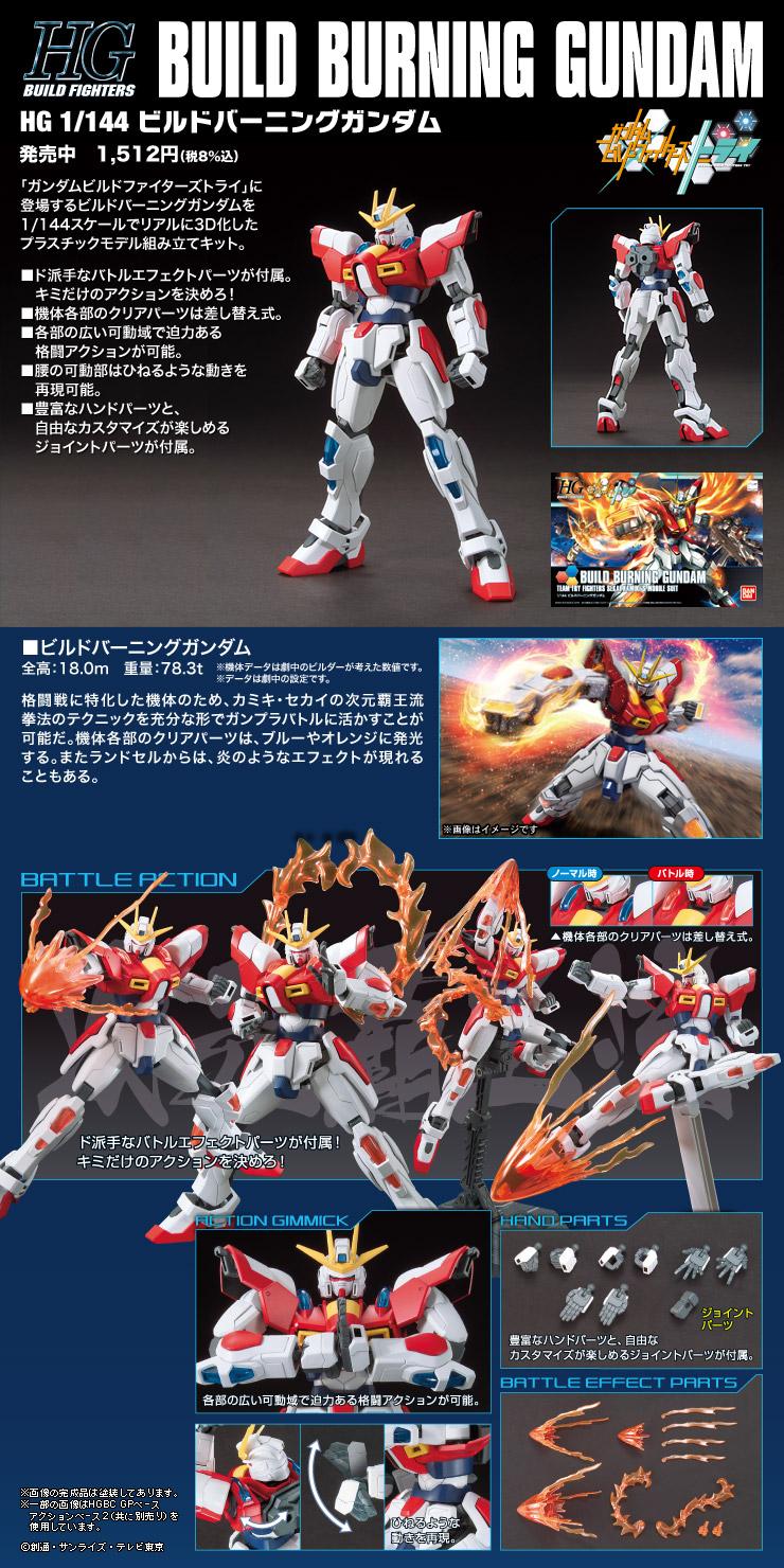 HGBF 1/144 BG-011B ビルドバーニングガンダム [Build Burning Gundam] 公式商品説明(画像)