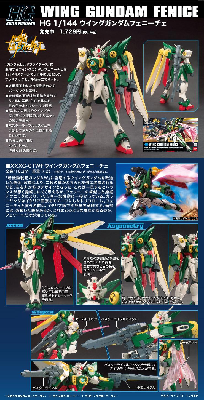 HGBF 1/144 XXXG-01Wf ウイングガンダムフェニーチェ [Wing Gundam Fenice] 公式商品説明(画像)