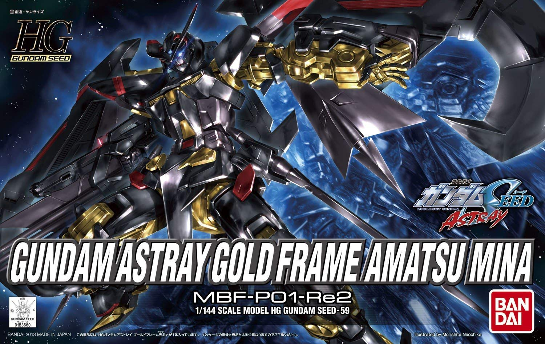 HGCE 1/144 MBF-P01-Re2 ガンダムアストレイ ゴールドフレームアマツミナ [Gundam Astray Gold Frame Amatsu Mina]