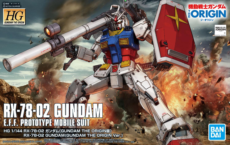 HG 1/144 RX-78-02 ガンダム(GUNDAM THE ORIGIN版) 4573102589293 5058929