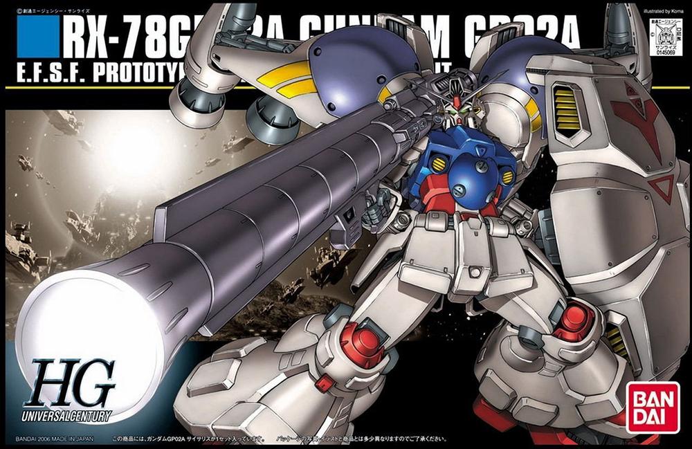 HGUC 1/144 RX-78GP02A ガンダムGP02A サイサリス [Gundam GP02A] パッケージアート