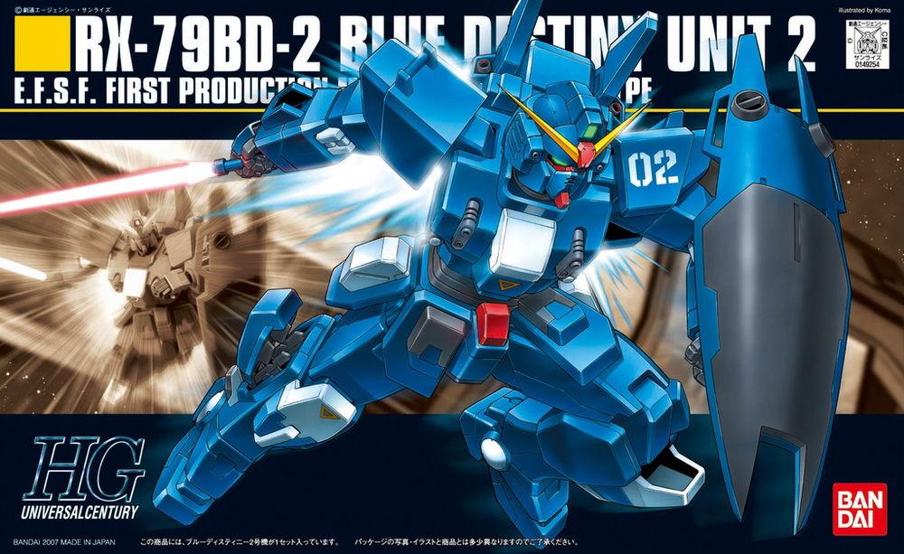 HGUC 1/144 RX-79BD-2 ブルーディスティニー2号機 パッケージアート