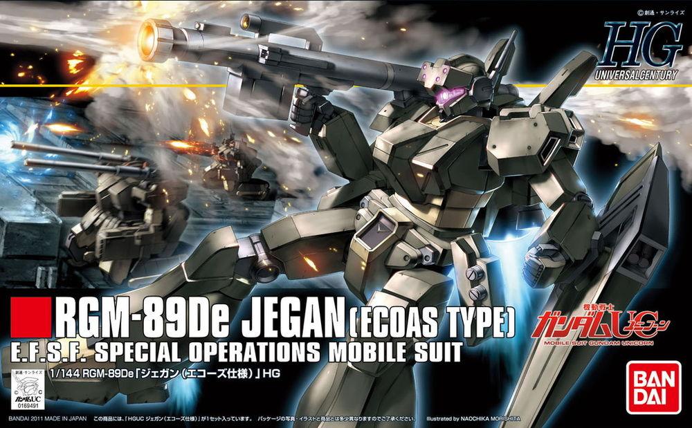 HGUC 1/144 RGM-89De ジェガン(エコーズ仕様) パッケージアート