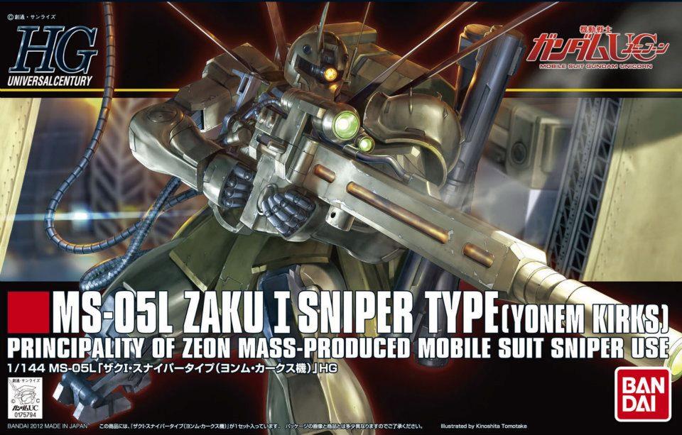 HGUC 1/144 MS-05L ザクI・スナイパータイプ(ヨンム・カークス機)[Zaku I Sniper Type (Yonem Kirks Custom)] 5060664 4573102606648 0175794 4543112757944