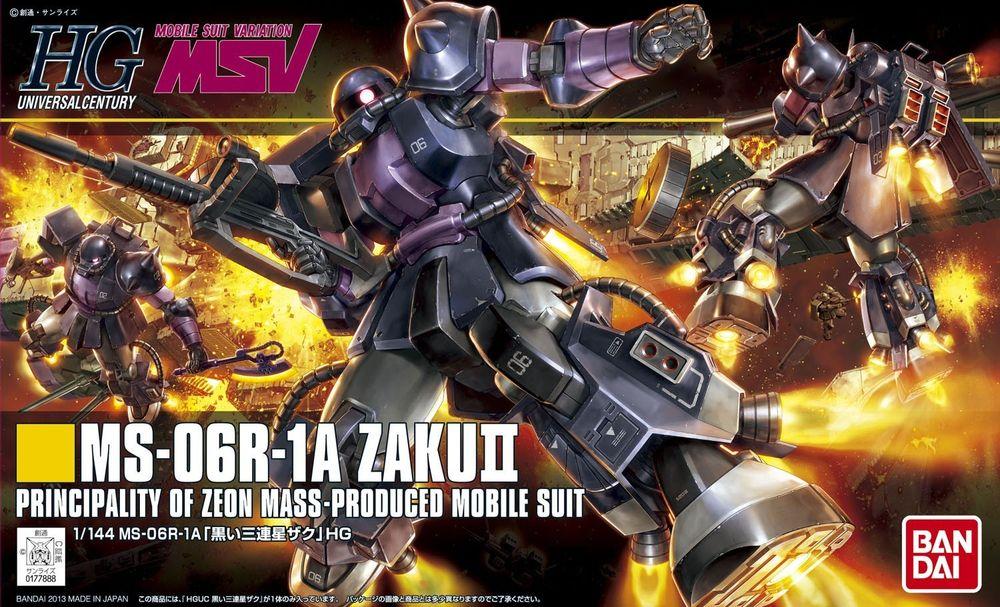 HGUC 1/144 MS-06R-1A 黒い三連星ザクII [Zaku II (Black Tri-Stars Custom)] パッケージアート