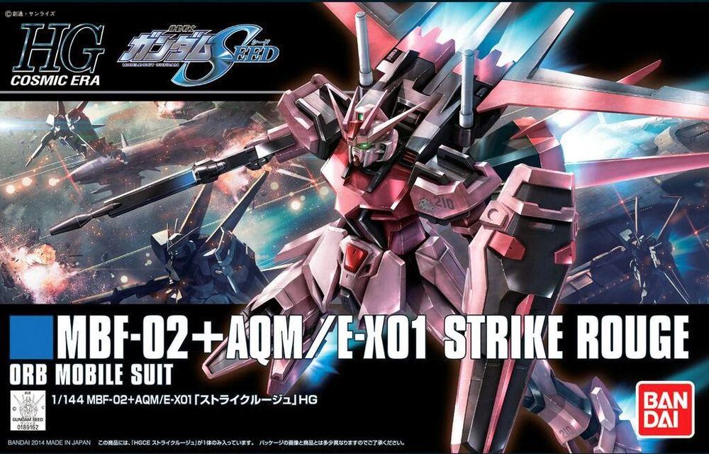 HGCE 1/144 MBF-02+AQM/E-X01 ストライクルージュ パッケージアート