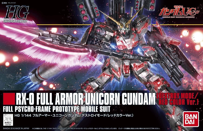HGUC 1/144 フルアーマー・ユニコーンガンダム(デストロイモード/レッドカラーVer.) [Full Armor Unicorn Gundam (Destroy Mode/Red Color Ver.)]