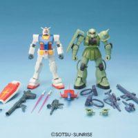 HGUC 1/144 ガンプラスターターセット ガンダム vs. 量産型ザク [Gunpla Starter Set: RX-78-2 Gundam vs. MS-06F Zaku II] 公式画像1
