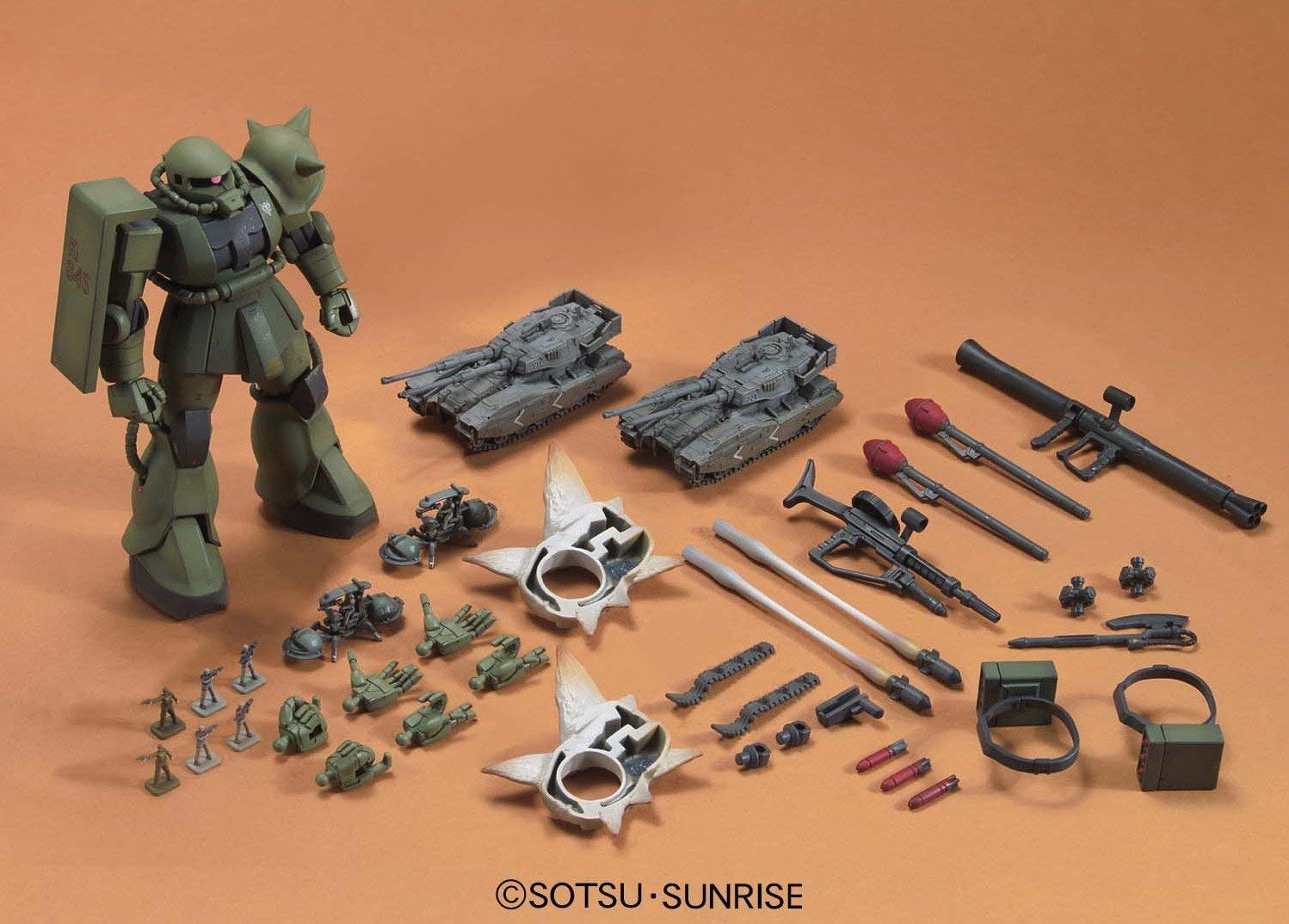 694HGUC 1/144 MS-06 ザク地上戦セット [Zaku The Ground War Set]