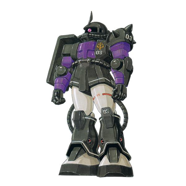 MS-06S 指揮官用ザクII [黒い三連星・ガイア機] [Zaku II Commander Type Gaia Custom]