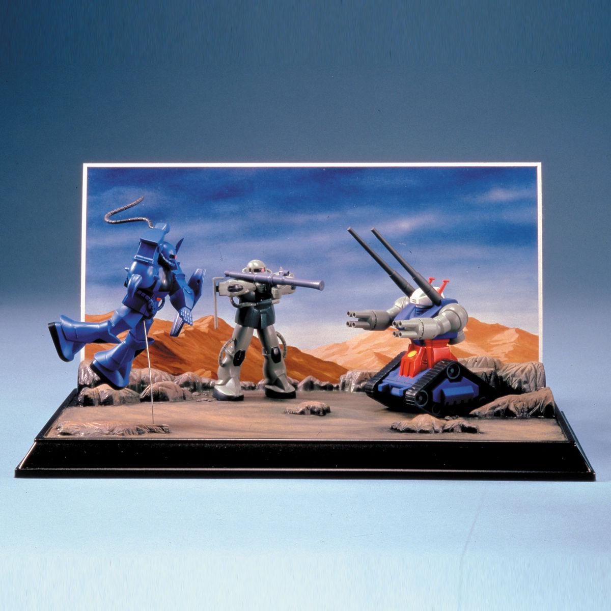 72094ガンダム情景模型 1/250 A ランバ・ラル特攻 [Diorama sets Ramba Ral's Suicide Attack] 0011721
