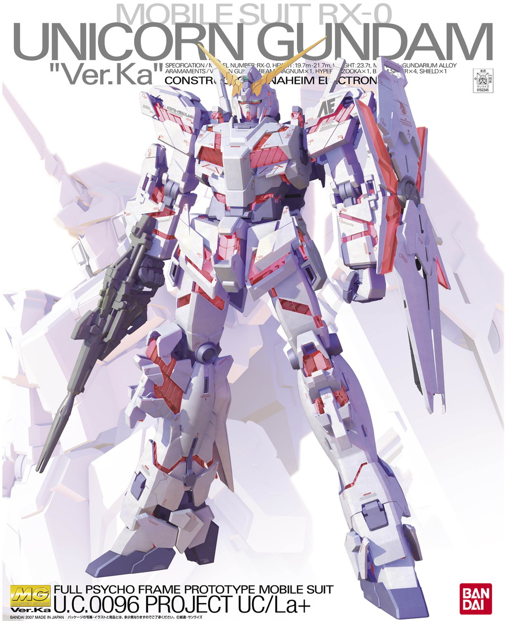 MG 1/100 RX-0 ユニコーンガンダム Ver.Ka [Unicorn Gundam Ver.Ka]