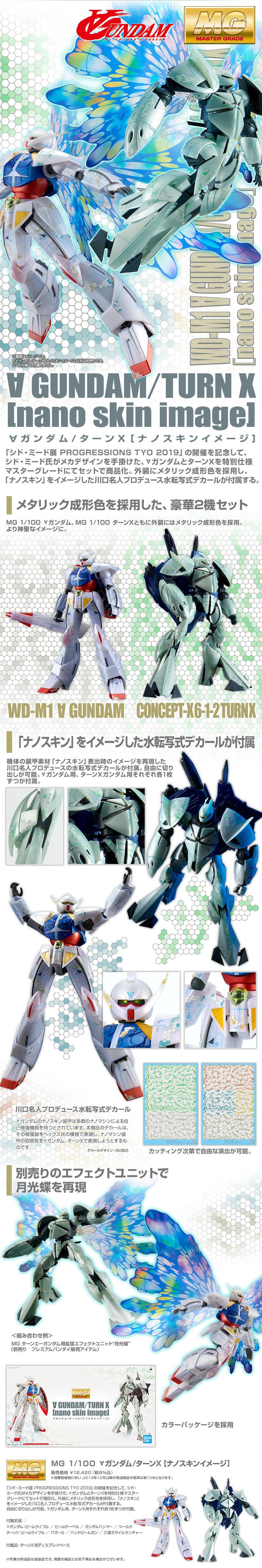 MG 1/100 ∀ガンダム/ターンX[ナノスキンイメージ] 公式商品説明(画像)