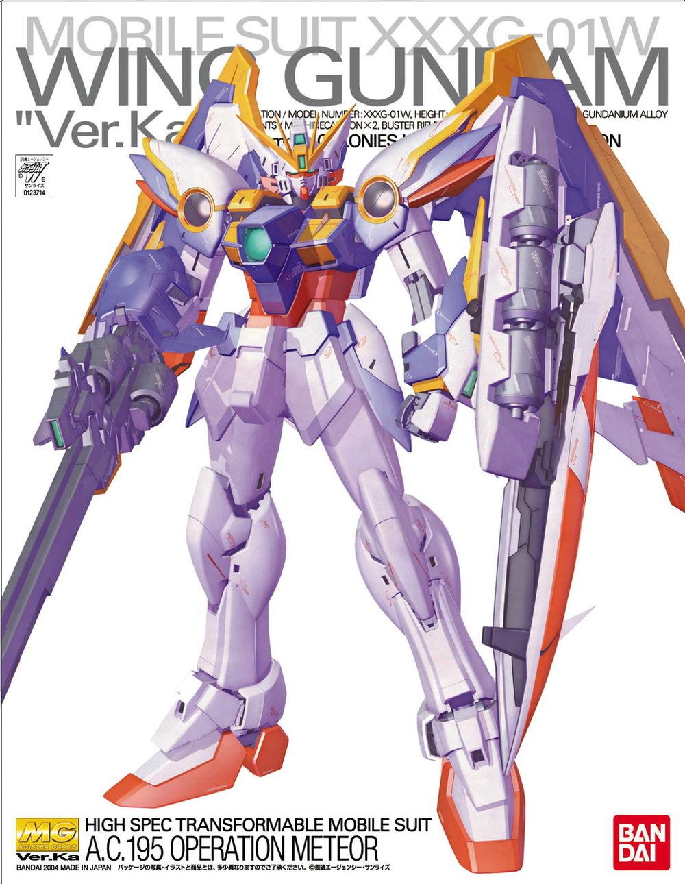 "MG 1/100 XXXG-01W ウイングガンダム Ver.Ka [Wing Gundam ""Ver.Ka""] 0123714 4543112237149"