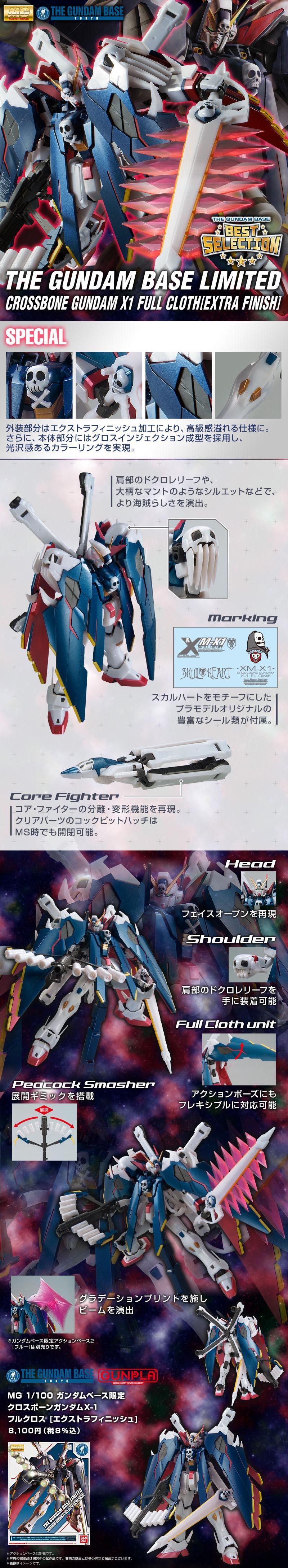 MG 1/100 クロスボーンガンダムX-1 フルクロス [エクストラフィニッシュ] 公式商品説明(画像)