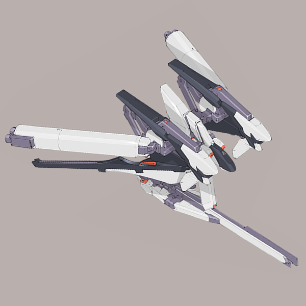 RX-124 フルドドII プロペラントタンク装備型 [Hrududu II]