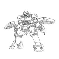 OZ-06MS リーオー(飛行ユニット装備)