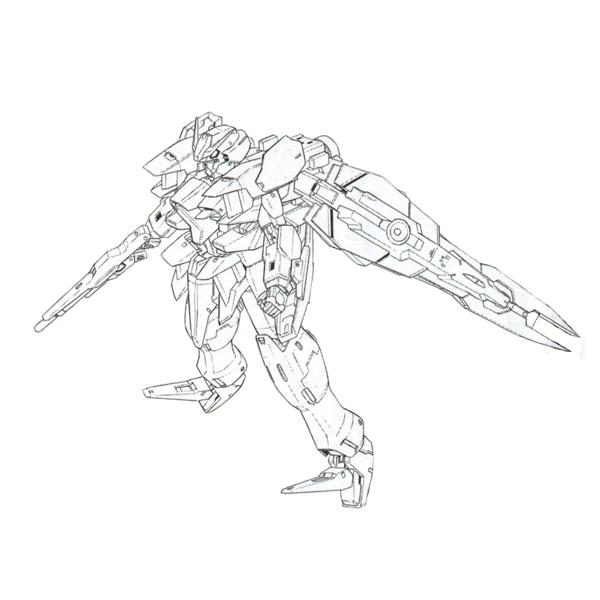 GN-XXXB+GNR-000B ブラックセファーラジエル [Black Sefer Rasiel]