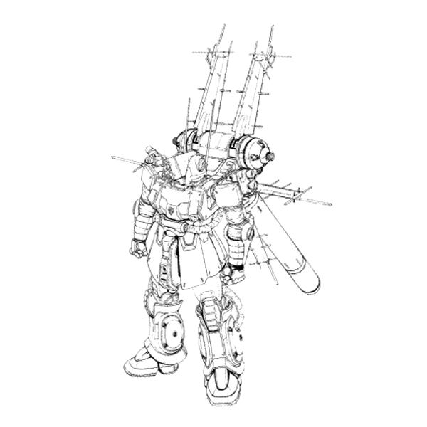 MS-06E-3 ザク・フリッパー [Zaku Flipper]《サンダーボルト》