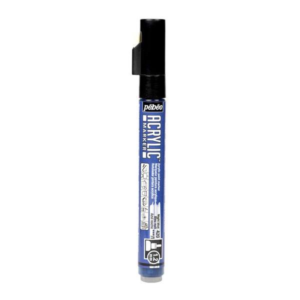 pebeo(ペベオ) 水性アクリリックマーカー 1.2mm細ラウンド ナイトブルー 205720