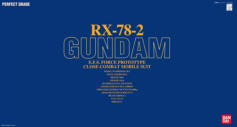 PG 1/60 RX-78-2 ガンダム [Gundam]
