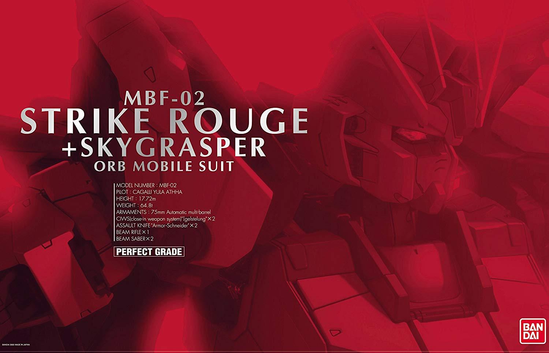 PG 1/60 MBF-02 ストライクルージュ + スカイグラスパー [Aile Strike Rouge + FX-550 Skygrasper]