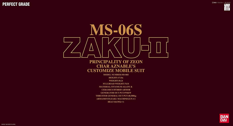 PG 1/60 MS-06S シャア・アズナブル専用 ザクII [Char's Zaku II]