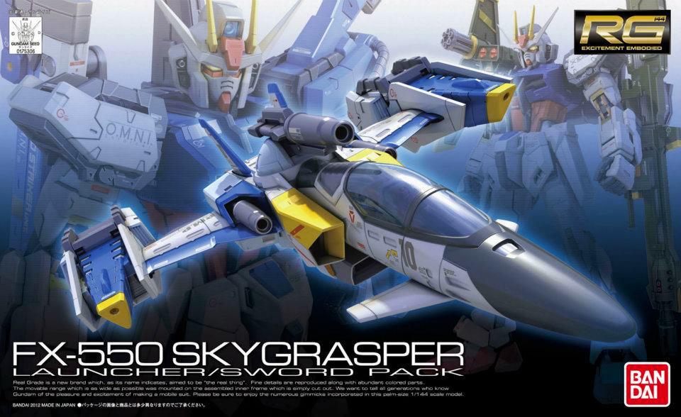 RG 1/144 FX-550 スカイグラスパー ランチャー/ソードパック [Skygrasper (Launcher/Sword Pack)]