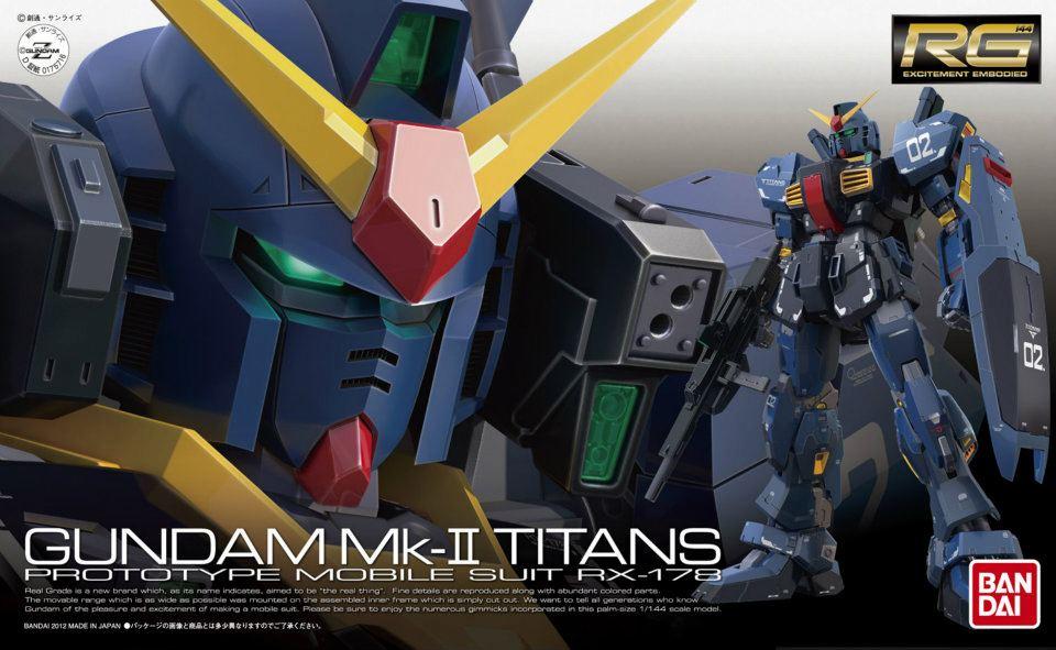 RG 1/144 RX-178 ガンダム Mk-II(ティターンズ仕様) [Gundam Mk-II Titans]