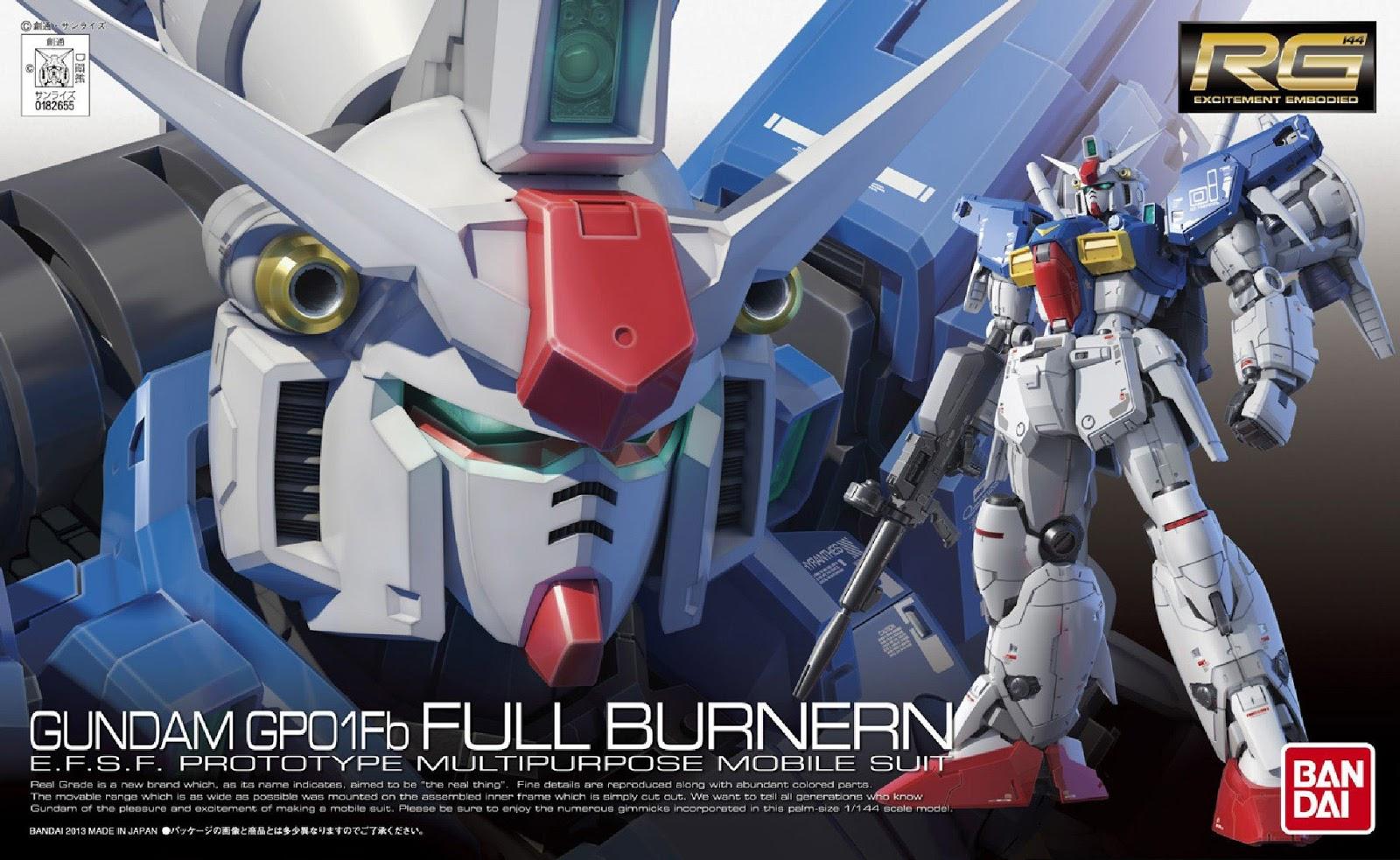 """RG 1/144 RX-78GP01Fb ガンダム試作1号機 ゼフィランサス フルバーニアン [Gundam """"Zephyranthes"""" Full Burnern]"""